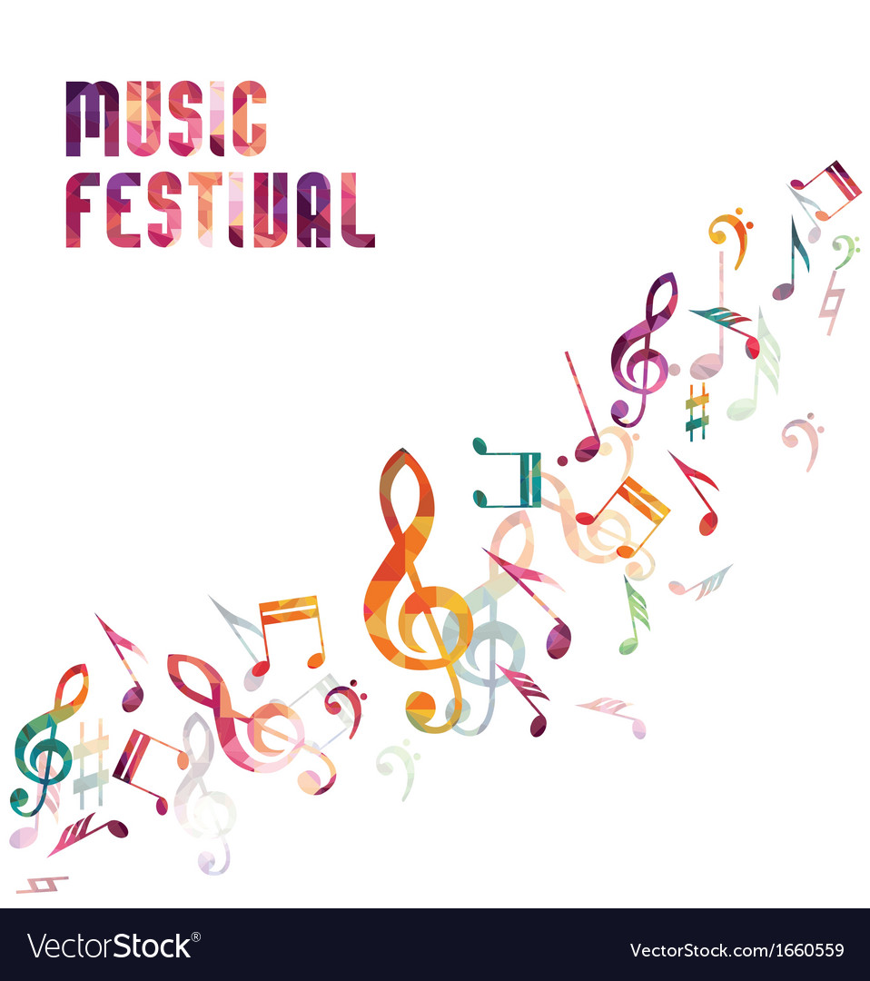 Colorful music background vector   Price: 1 Credit (USD $1)