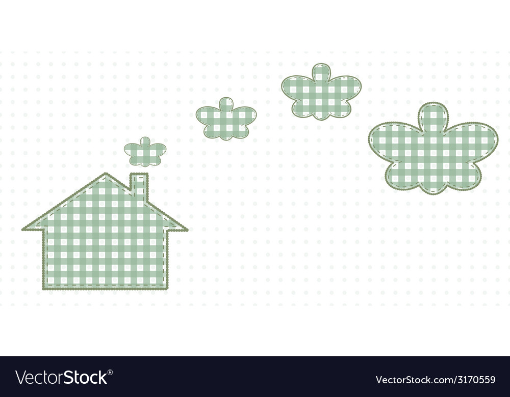 House and smoke resembling butterflies cute baby vector | Price: 1 Credit (USD $1)