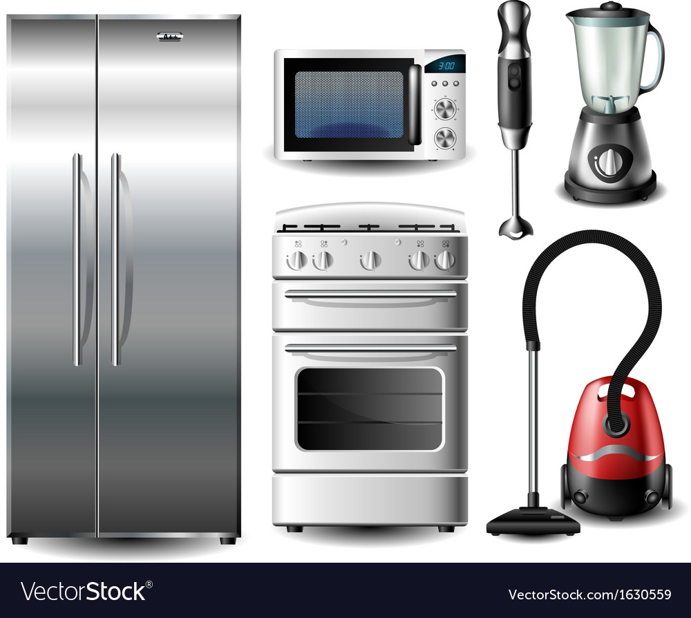 Kitchen appliance set vector | Price: 1 Credit (USD $1)