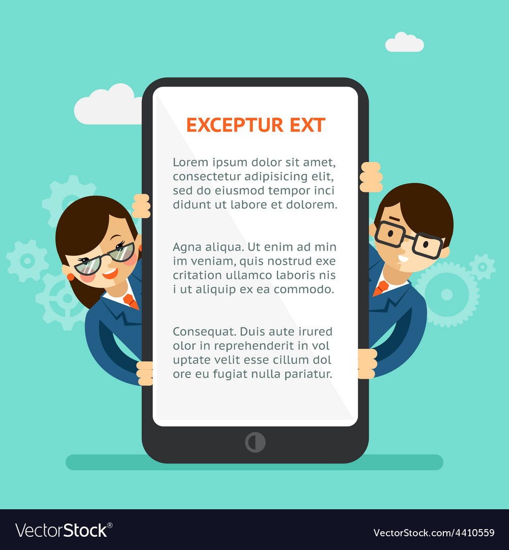 Mobile app presentation vector   Price: 1 Credit (USD $1)