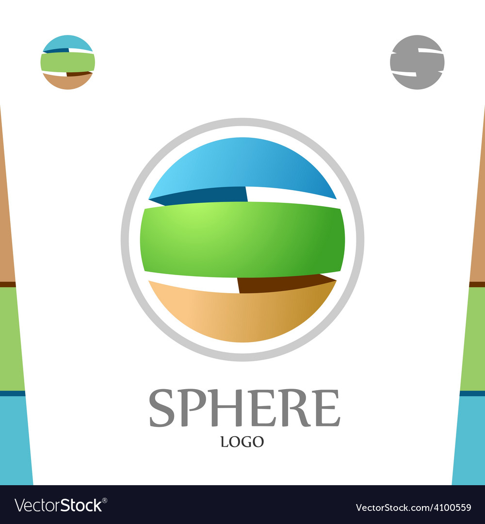 S letter logo template abstract sphere globe with vector | Price: 1 Credit (USD $1)