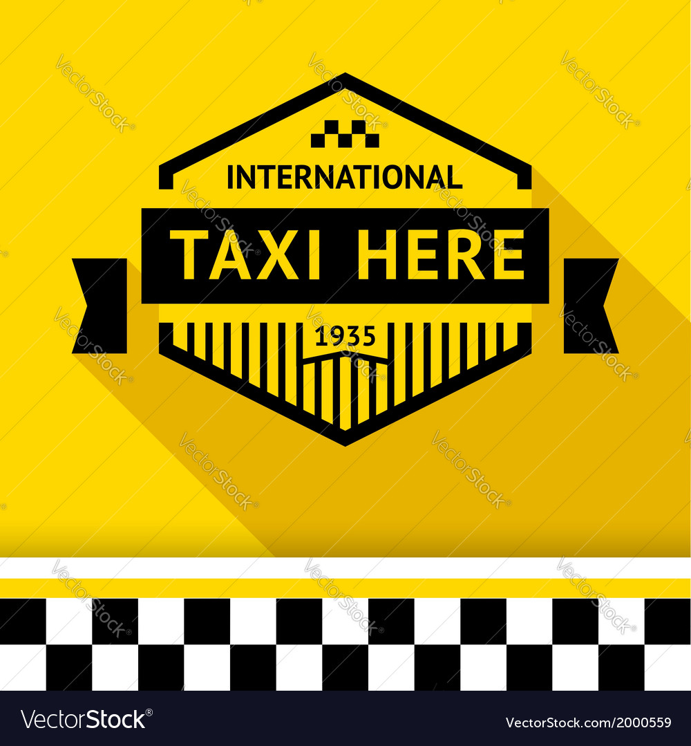 Taxi badge 14 vector | Price: 1 Credit (USD $1)