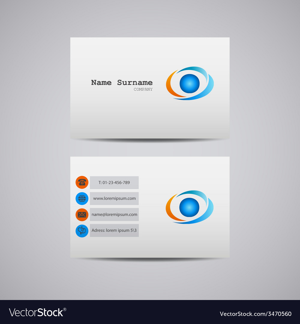 Abstract creative business card with company logo vector | Price: 1 Credit (USD $1)