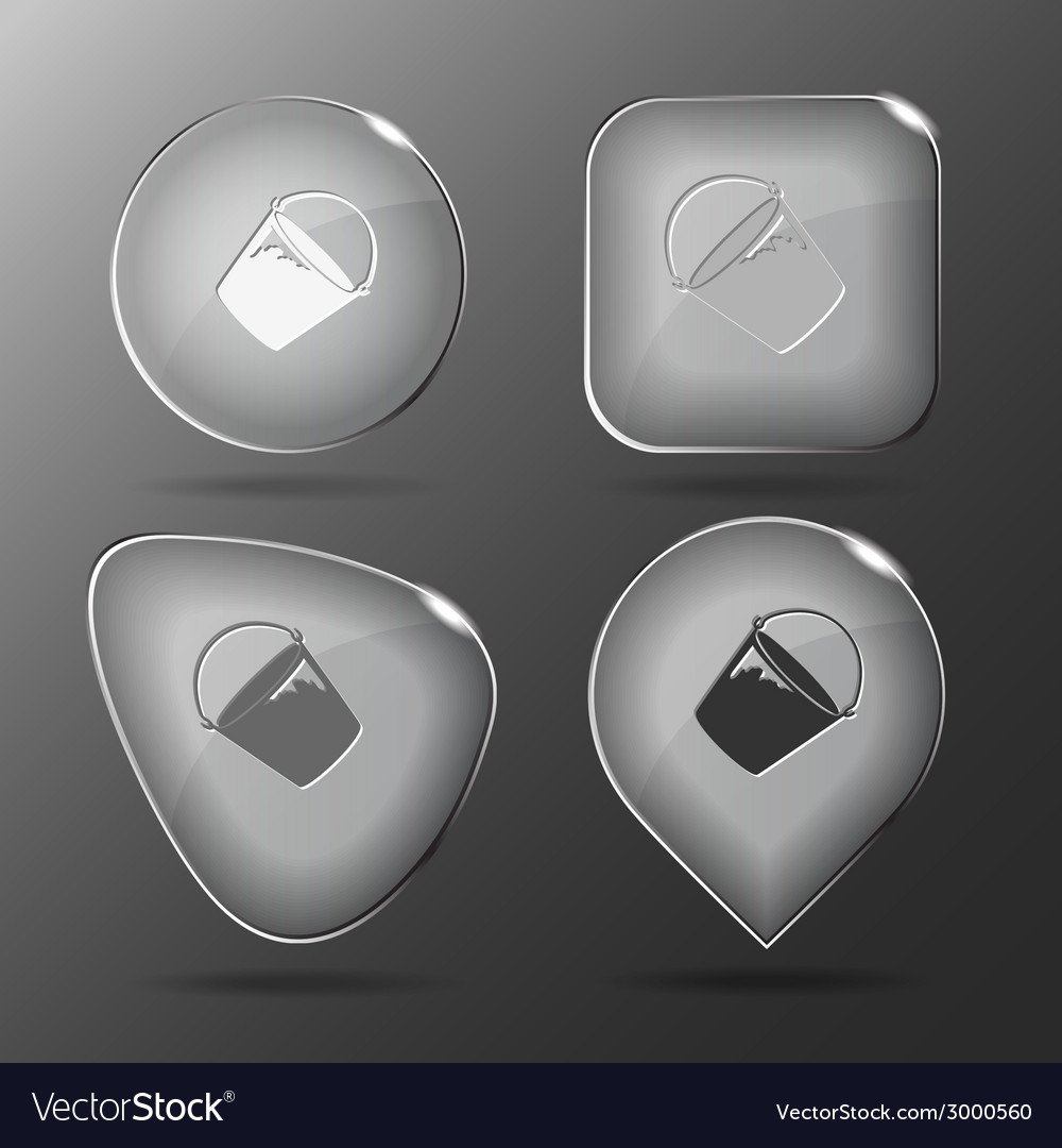 Bucket glass buttons vector | Price: 1 Credit (USD $1)