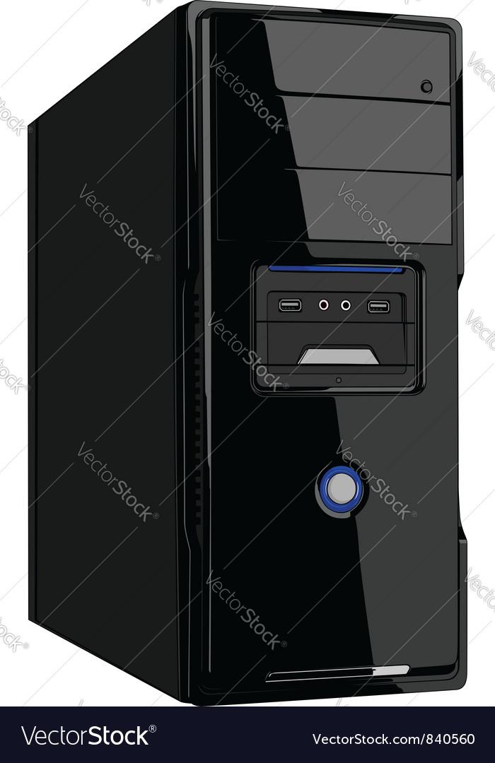 Computer case vector | Price: 1 Credit (USD $1)