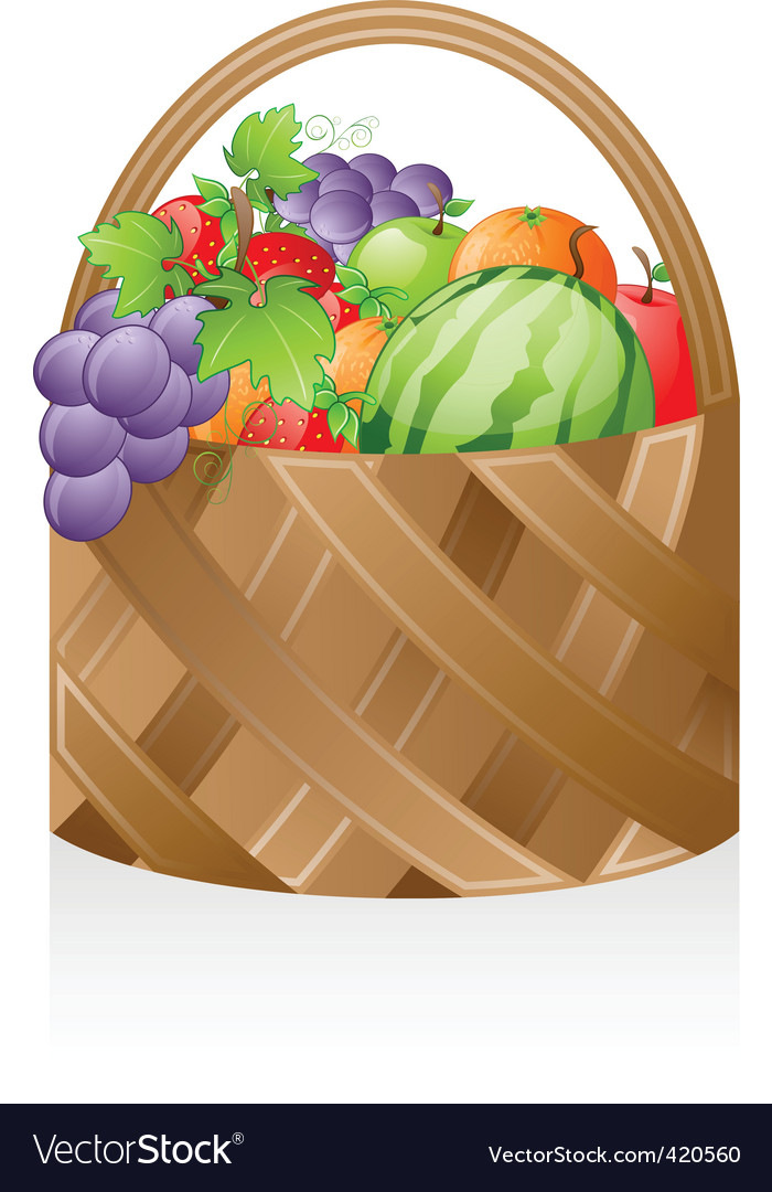 Fruit basket vector | Price: 3 Credit (USD $3)