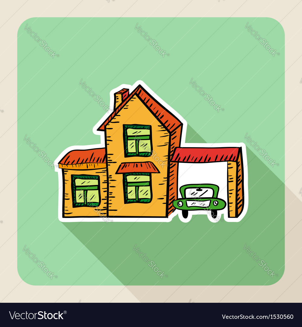 Hand drawn realtor business property concept vector | Price: 1 Credit (USD $1)