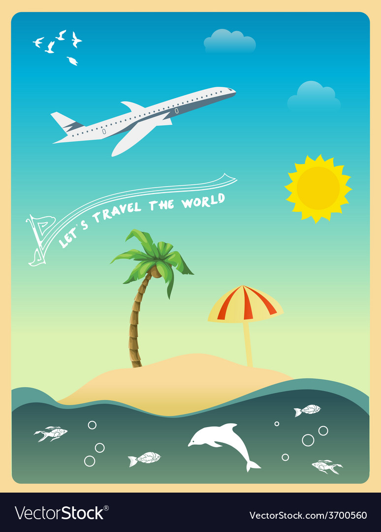 Lets travel the world vector | Price: 1 Credit (USD $1)
