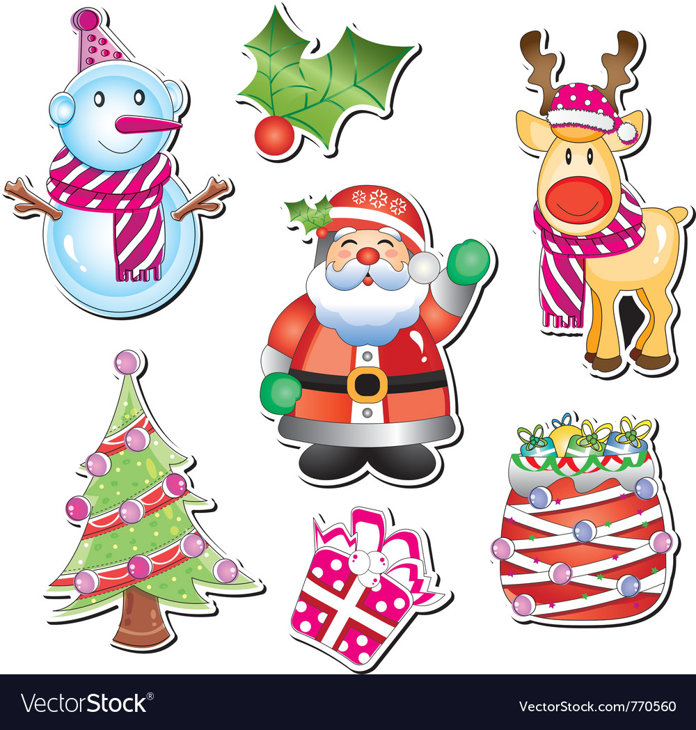 Merry christmas element vector | Price: 1 Credit (USD $1)