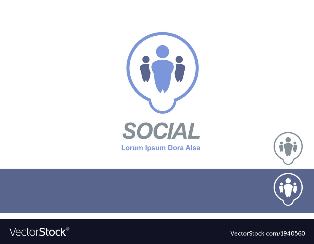 Social media dating network logo concept vector | Price: 1 Credit (USD $1)