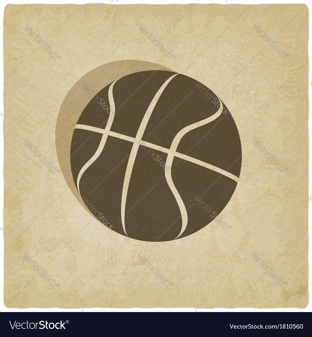 Sport basketball logo old background vector | Price: 1 Credit (USD $1)