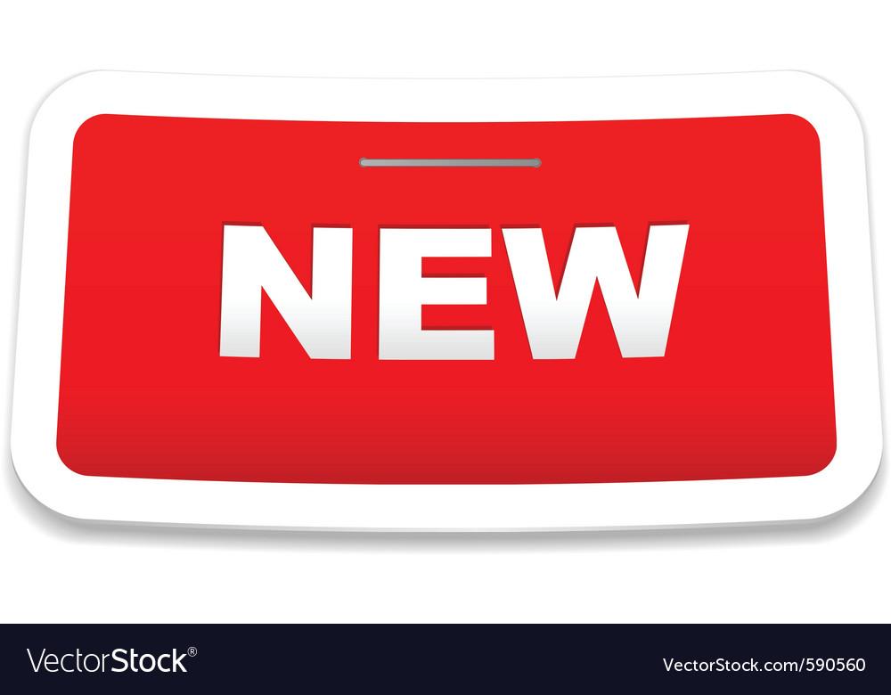 Stapled new sticker vector