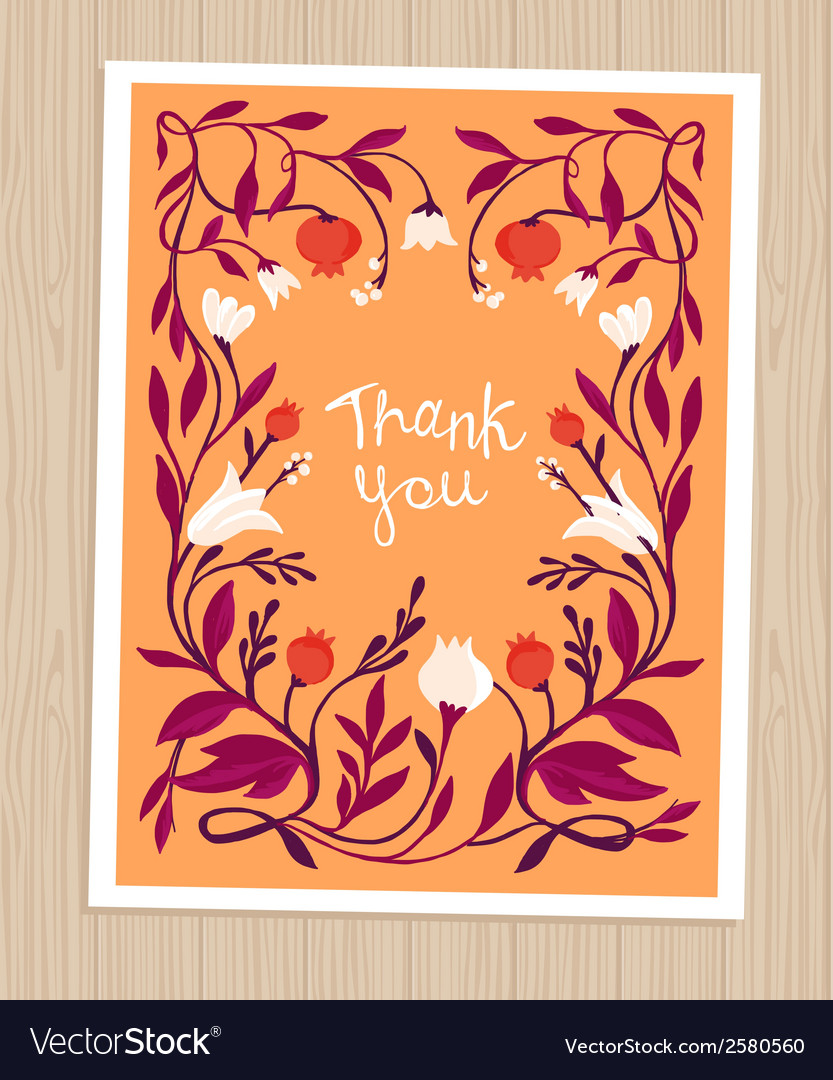 Thank you card in flat style vector | Price: 1 Credit (USD $1)