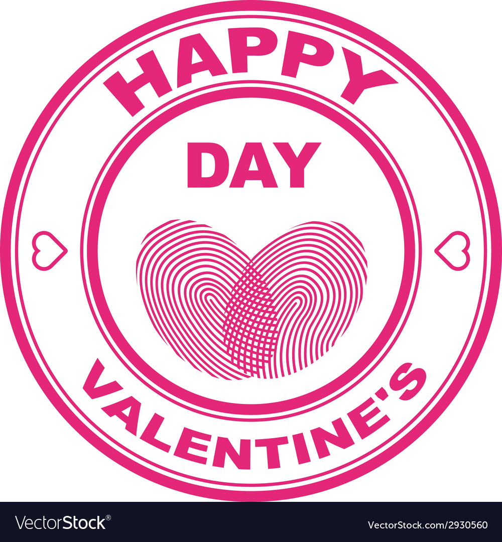 Valentine stamp vector | Price: 1 Credit (USD $1)