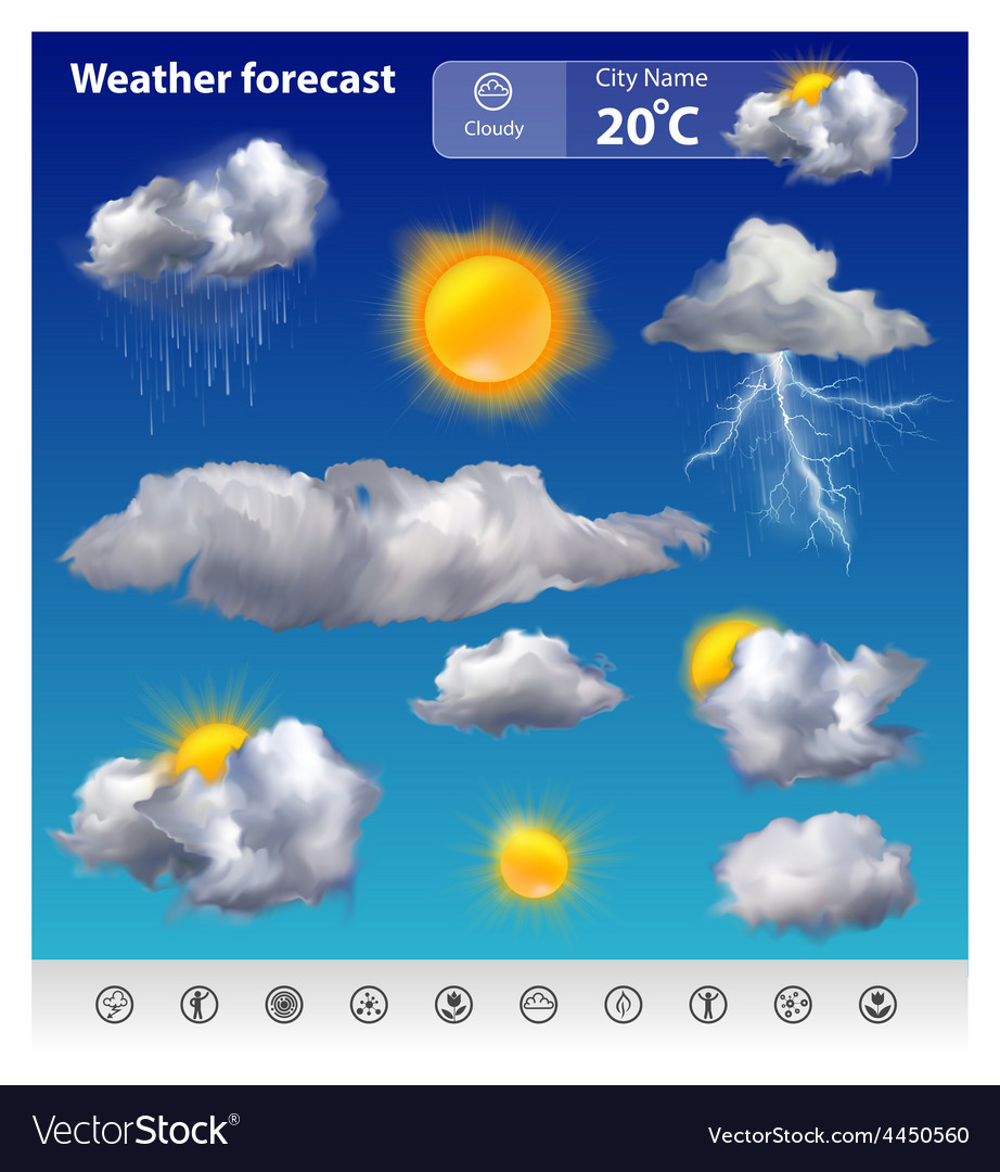 Weather forecast vector   Price: 3 Credit (USD $3)