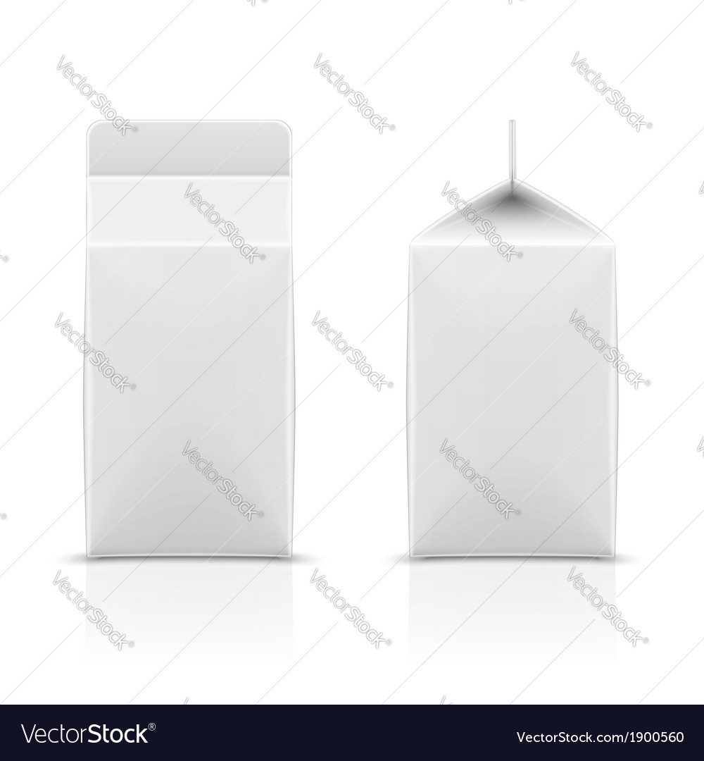 White cardboard milk package vector | Price: 1 Credit (USD $1)