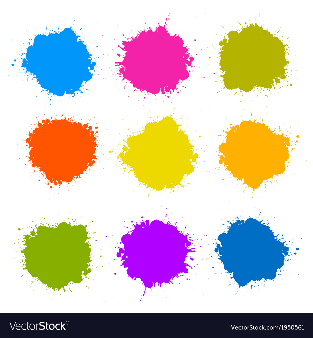 Colorful stains blots splashes set vector | Price: 1 Credit (USD $1)