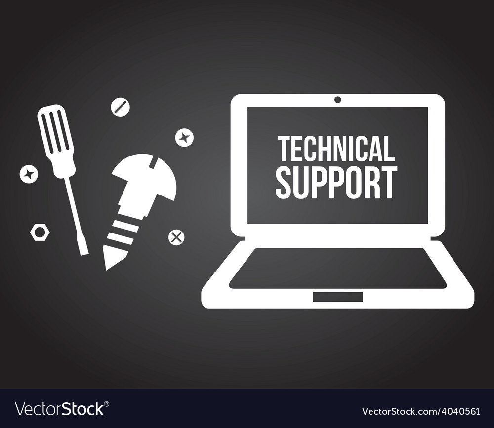 Computer support vector | Price: 1 Credit (USD $1)