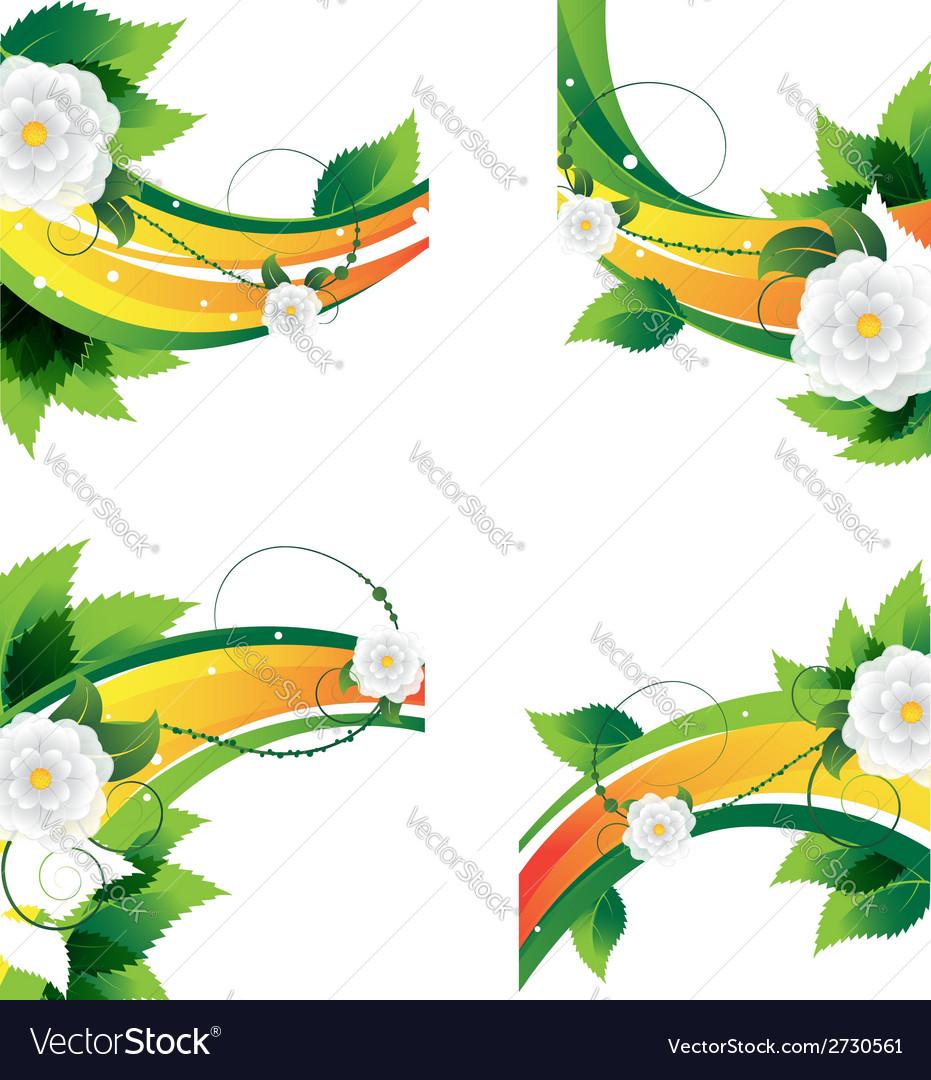 Decorative floral elements vector | Price: 1 Credit (USD $1)