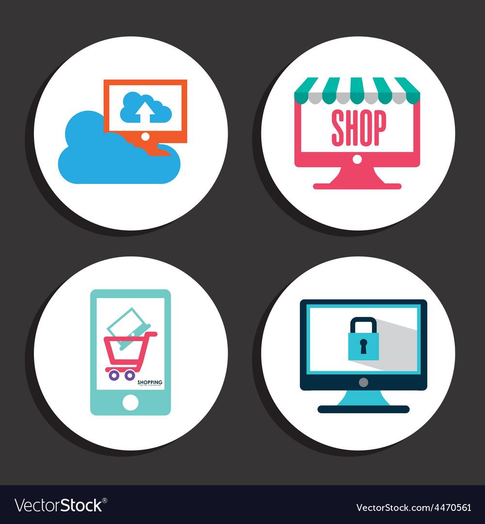 E-commerce icons vector   Price: 1 Credit (USD $1)