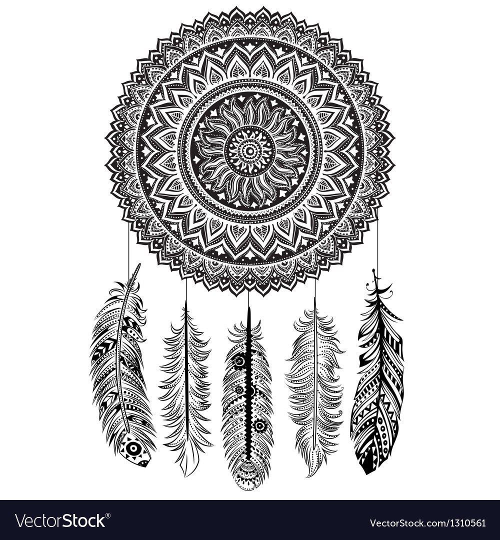 Ethnic dream catcher vector | Price: 1 Credit (USD $1)