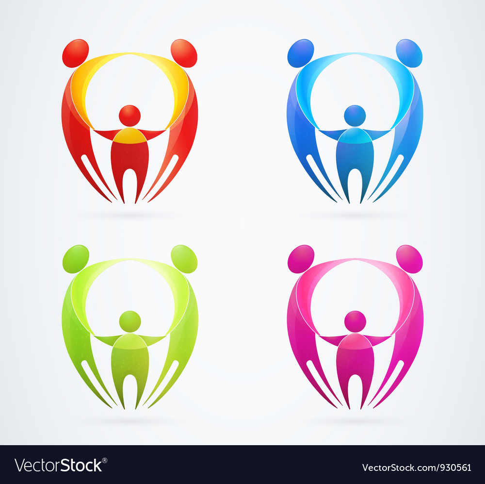 Family concept holding hands vector | Price: 1 Credit (USD $1)