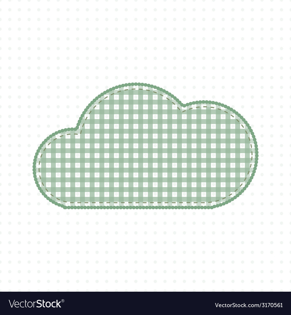 Green cloud fabric cute baby style vector | Price: 1 Credit (USD $1)