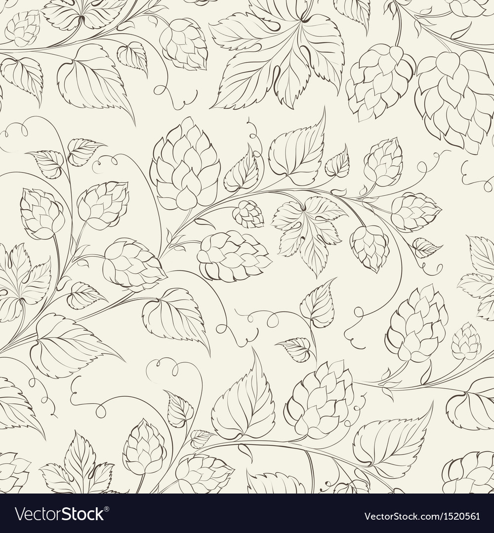Hop seamless pattern vector | Price: 1 Credit (USD $1)