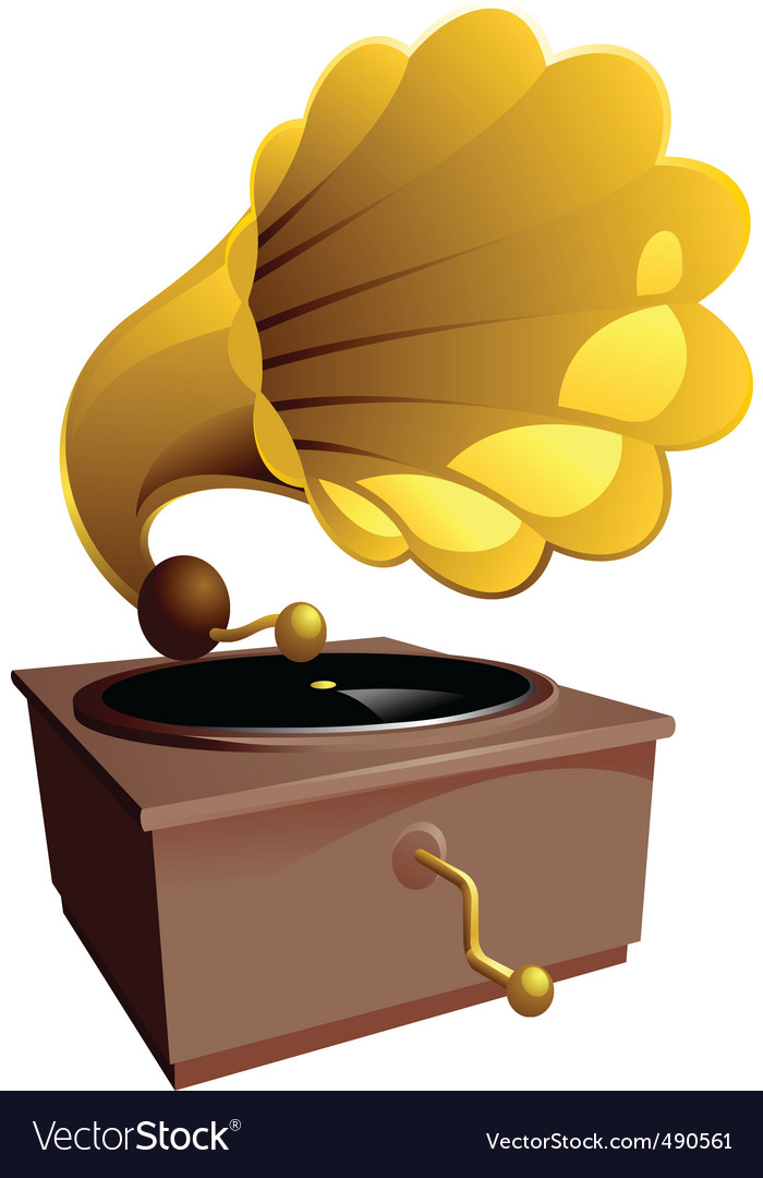 Music gramophone vector | Price: 1 Credit (USD $1)