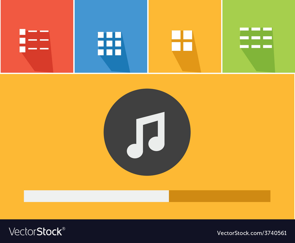 Music player 34 vector | Price: 1 Credit (USD $1)