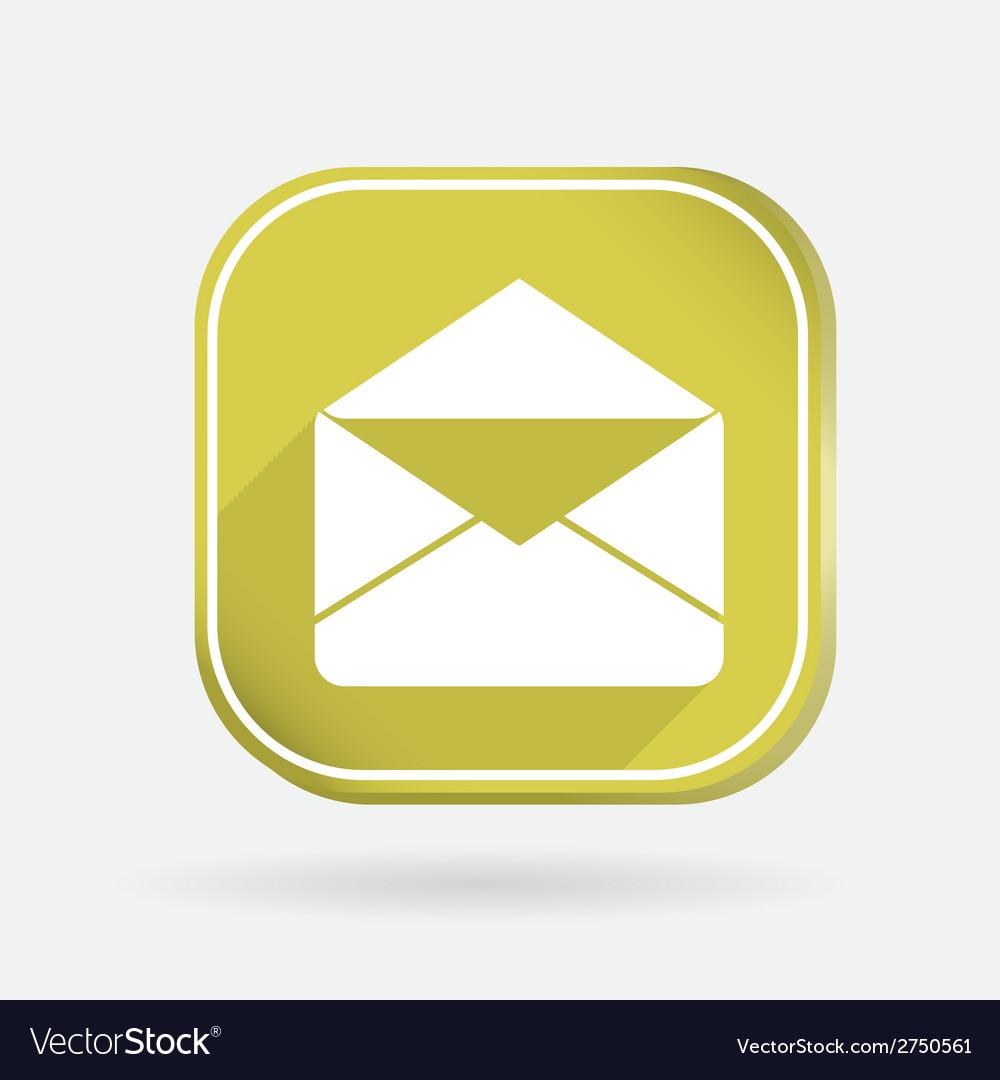 Postal envelope color square icon vector | Price: 1 Credit (USD $1)