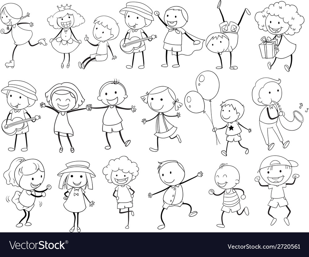 Simple kids doodle vector | Price: 1 Credit (USD $1)