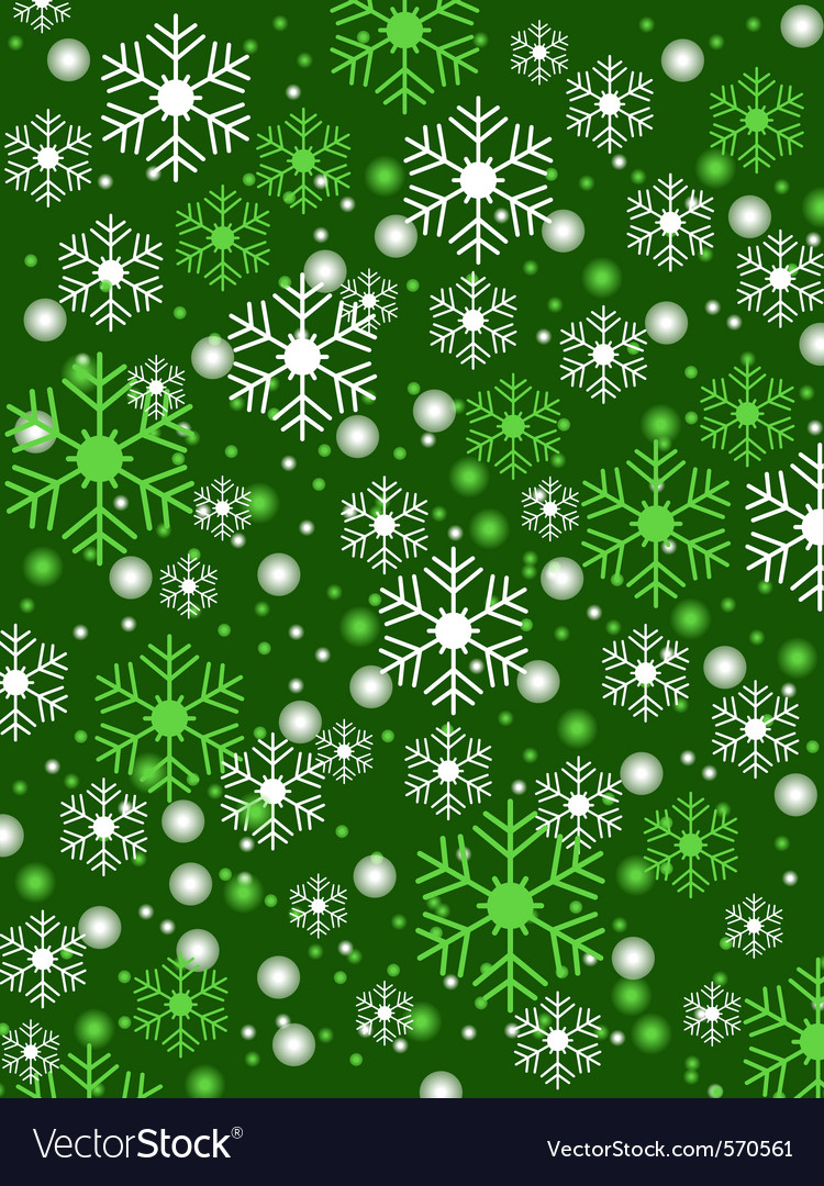 Snowflake green background vector | Price: 1 Credit (USD $1)