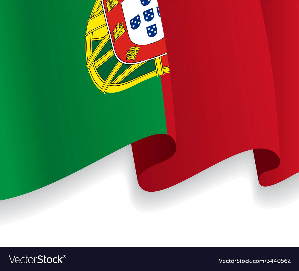 Background with waving portuguese flag vector | Price: 1 Credit (USD $1)