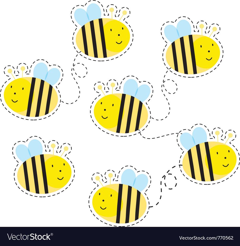 Buzzy bees vector | Price: 1 Credit (USD $1)