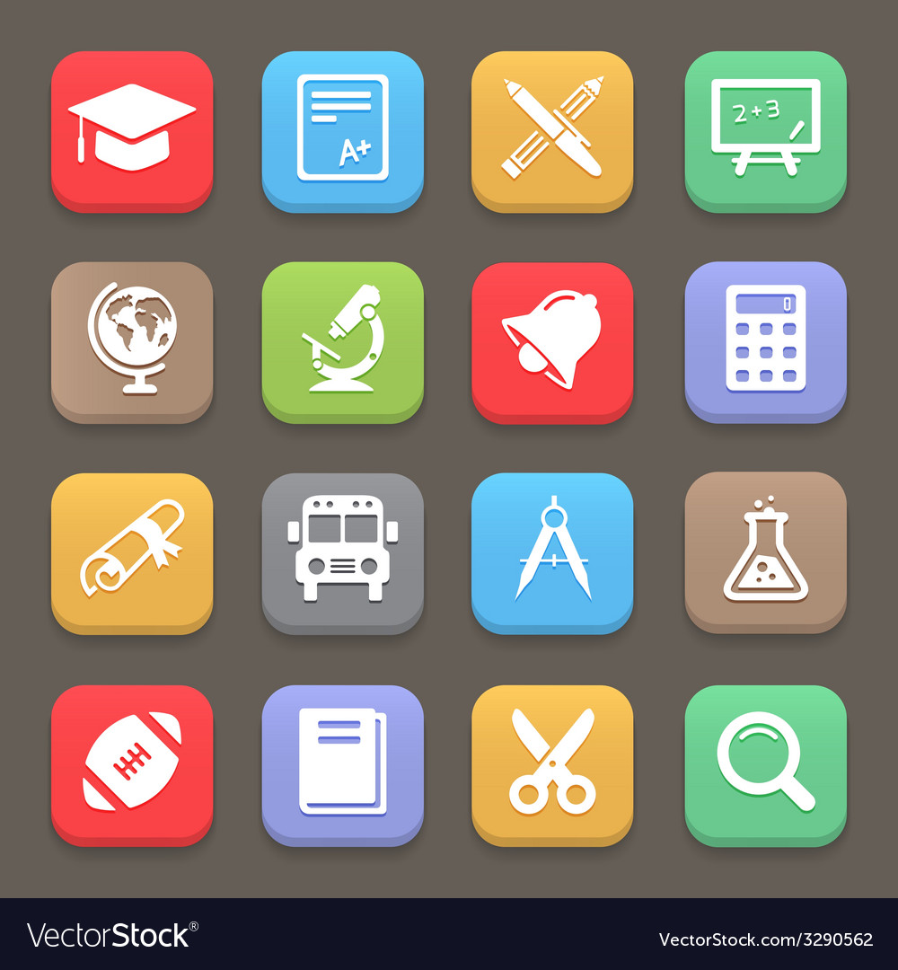 Education icons for web or mobile vector | Price: 1 Credit (USD $1)