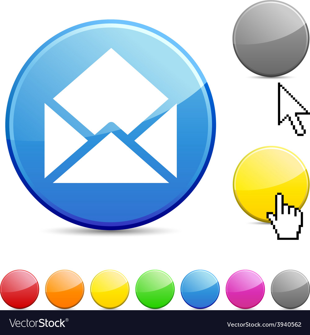 E-mail glossy button vector | Price: 1 Credit (USD $1)