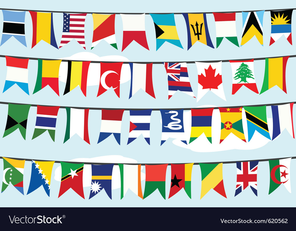 Flags on strings vector | Price: 1 Credit (USD $1)