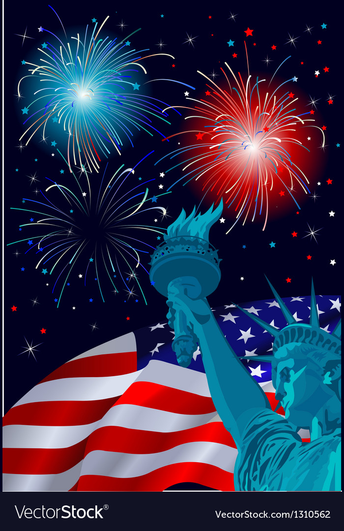 Freedom celebration vector | Price: 1 Credit (USD $1)