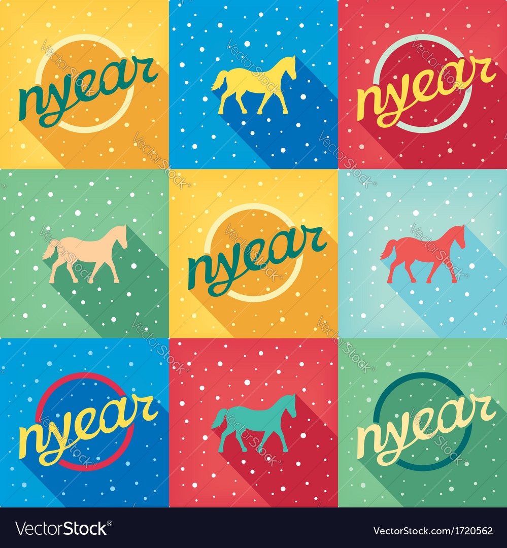 Funny simple picture retro new year vector | Price: 1 Credit (USD $1)