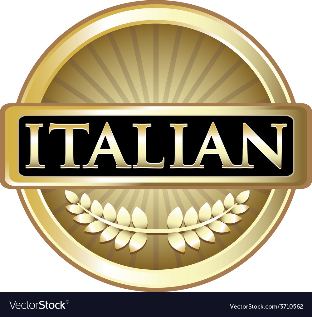 Italian gold label vector | Price: 1 Credit (USD $1)