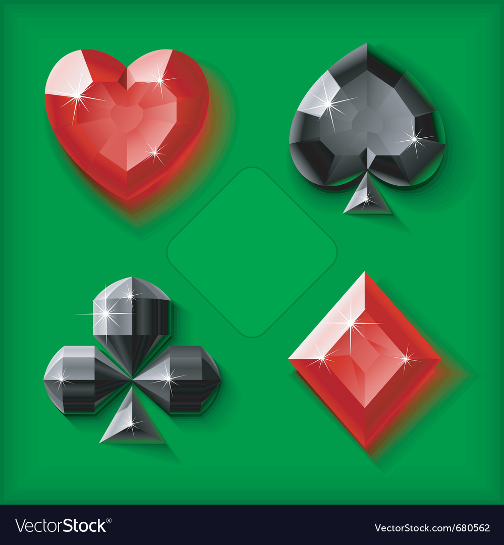 Jewel card symbols vector | Price: 1 Credit (USD $1)