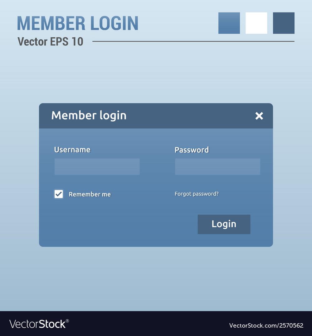 Member login vector | Price: 1 Credit (USD $1)