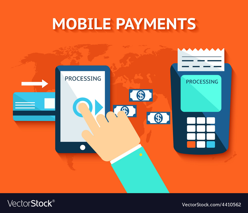 Mobile payments and near field communication nfc vector | Price: 1 Credit (USD $1)