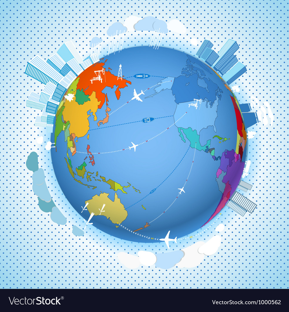 Scheme on the earth vector | Price: 1 Credit (USD $1)