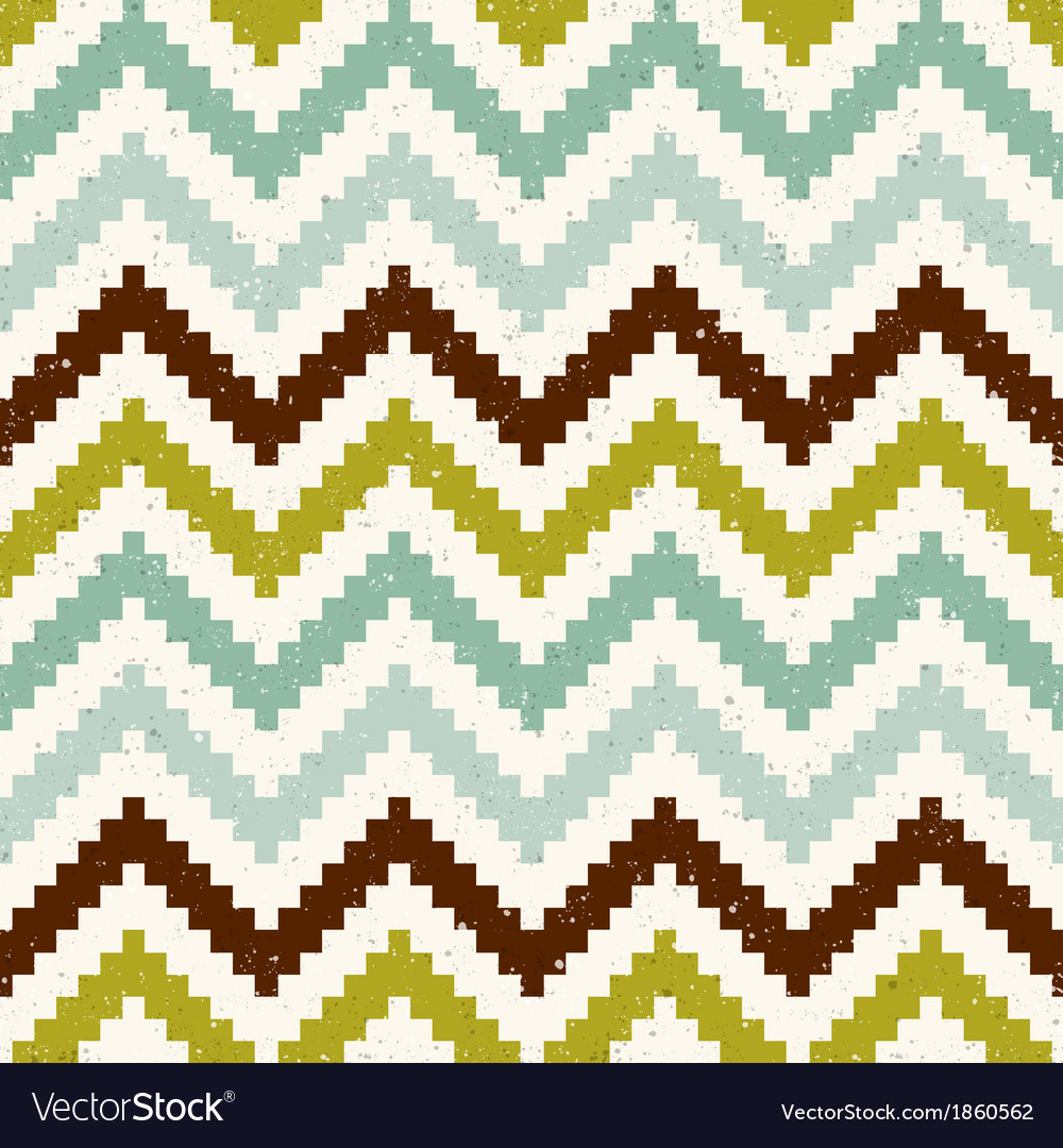 Seamless retro zig zag texture pattern vector | Price: 1 Credit (USD $1)