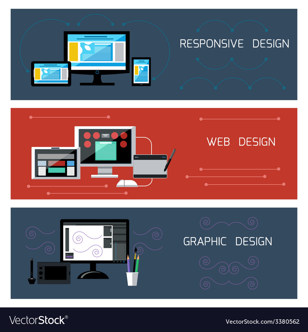 Web design responsive and graphic design vector | Price: 1 Credit (USD $1)