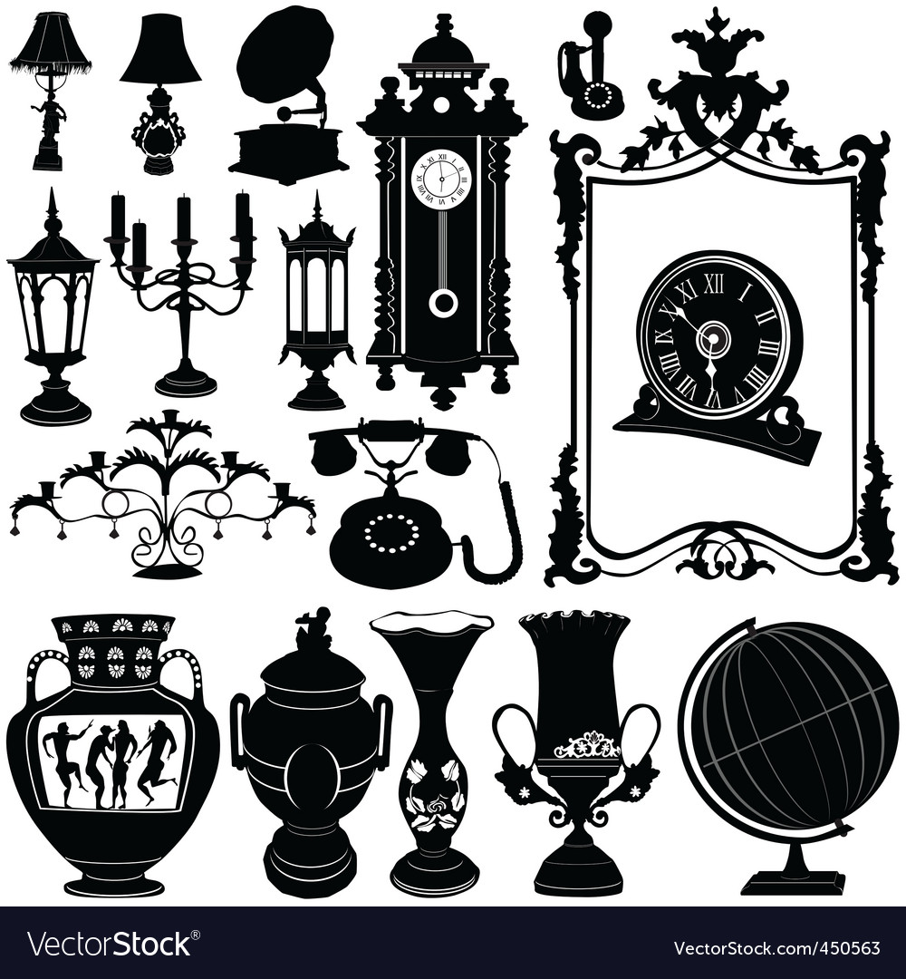 Antique objects vector | Price: 1 Credit (USD $1)