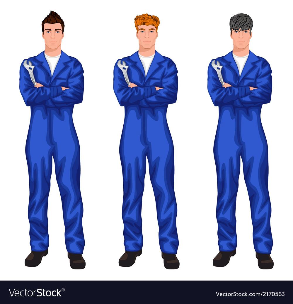 Auto mechanic worker set vector | Price: 1 Credit (USD $1)