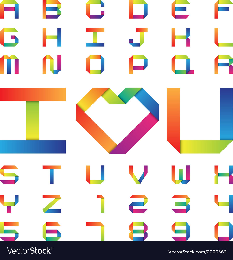 Colorful paper alphabet vector | Price: 1 Credit (USD $1)